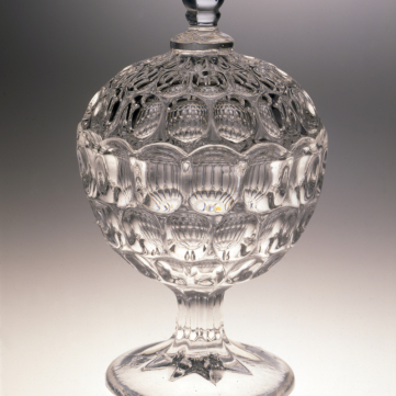 Compote in the Argus pattern, made by Bakewell, Pears & Co., c. 1860