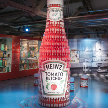 Ketchup Bottle of Bottles in the Heinz Exhibit