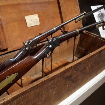 Sharps Model 1853 Carbines with Ames saber bayonets