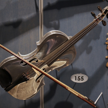Aluminum Violin, c. 1932, Special Collections Gallery