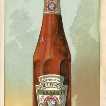 Octogon style ketchup bottle, 1890