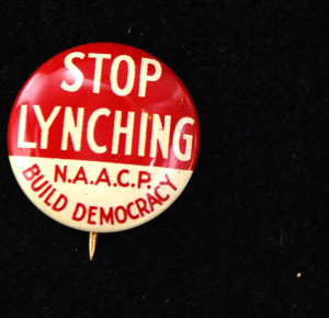 "ALT:Pin – ""Stop Lynching"" NAACP Build Democracy"
