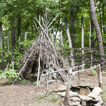 Wooden Shelter, Meadowcroft Prehistoric Indian Village