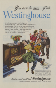 ALT:Westinghouse Radio-phonograph advertisement, 1948
