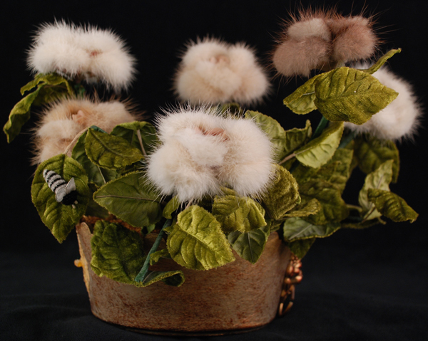 Mink fur bouquet, c. 1960