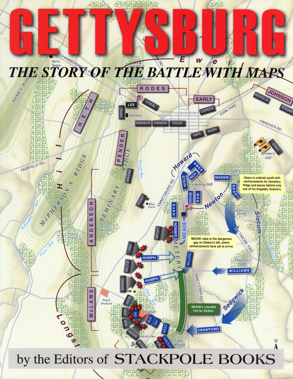 Gettysburg: The Story of the Battle with Maps, The Editors of Stackpole Books