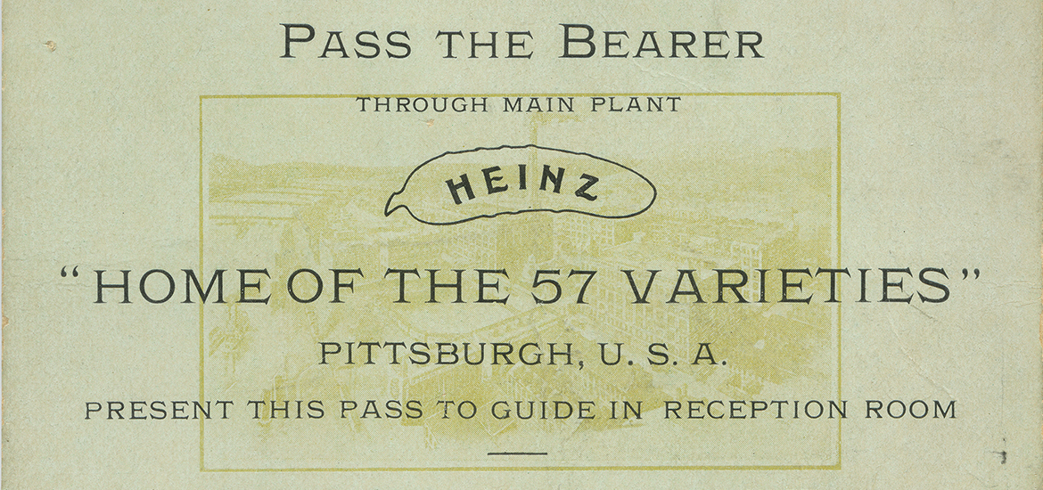 Beginning in 1899, Heinz offered guided tours to thousands of visitors at its Main Plant in Pittsburgh. H.J. Heinz Company Photographs, MSS 57, Senator John Heinz History Center.