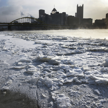 River Ice, by Darrell Sapp, Pittsburgh Post-Gazette
