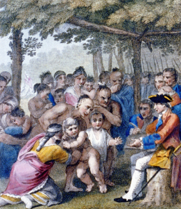 The Indians Delivering up the English Captives to Colonel Bouquet