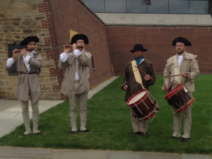 ALT:Fife and drum at the Fort Pitt Museum