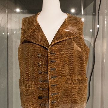 Jacob Miller Waistcoat, Captured by Indians, Fort Pitt Museum