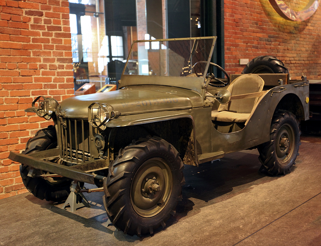 """Bantam Reconaissance Car #1007, """"Gramps"""", Made by American Bantam Car Company, 1940, on loan from the Smithsonian"""