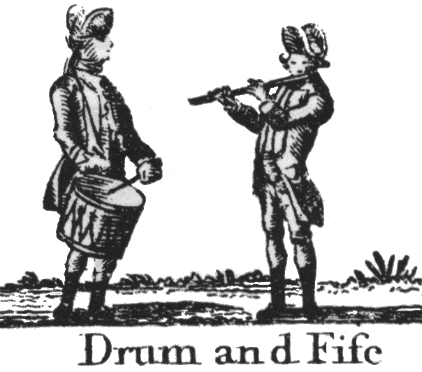 Drum and Fife engraving