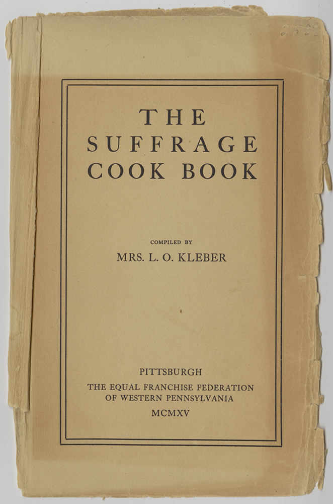Title page of the Suffrage Cook Book, 1915.