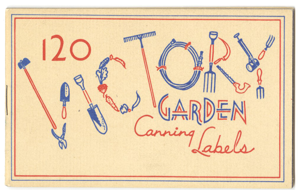 Victory Garden canning labels cover