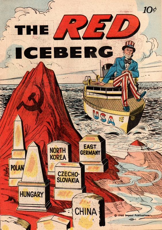 The RED iceberg - Cold War comic book