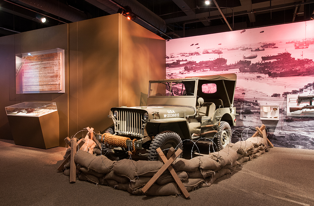 1941 Slat-grilled Jeep in D-Day section, We Can Do It! WWII