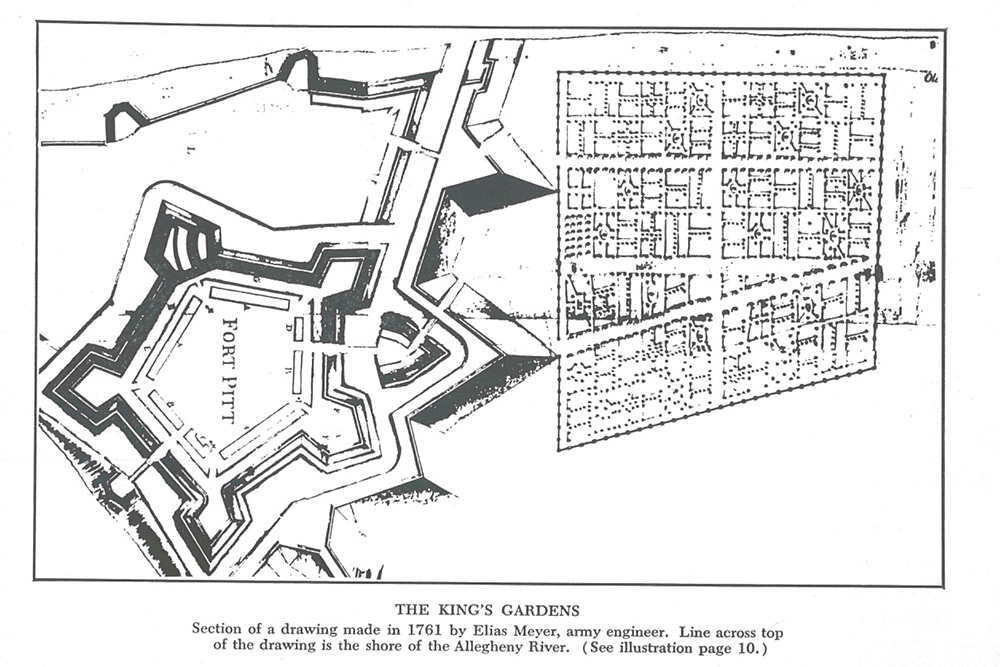 The King's Gardens drawing
