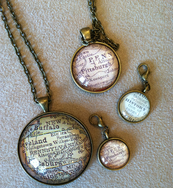 Paper Town jewelry and pendants