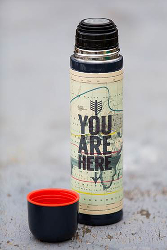You are Here thermos