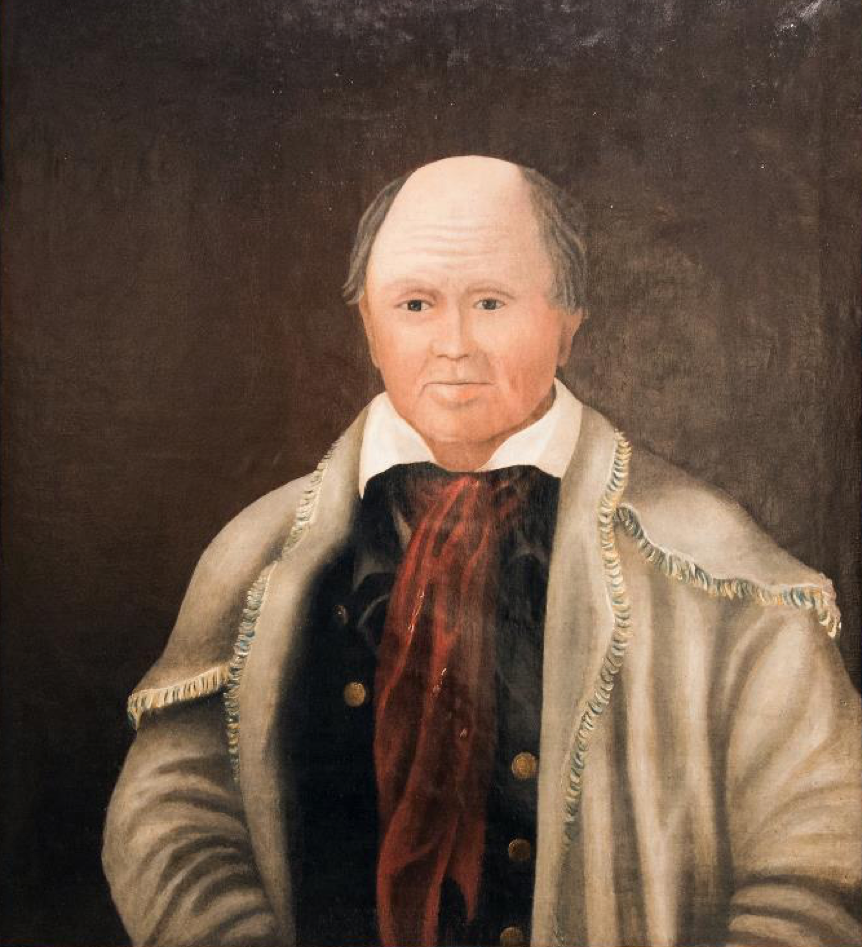 """Portrait of Col. James Smith,"" Artist Unknown, c. 1800-1810. Courtesy Warren J. Shonert Americana Collection, Eva G. Farris Special Collections, W. Frank Steely Library, Northern Kentucky University."