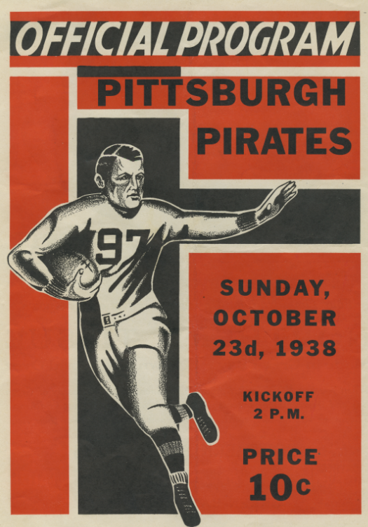 Pittsburgh Steelers official program, Sunday, Oct. 23, 1938. Detre Library & Archives at the Heinz History Center.