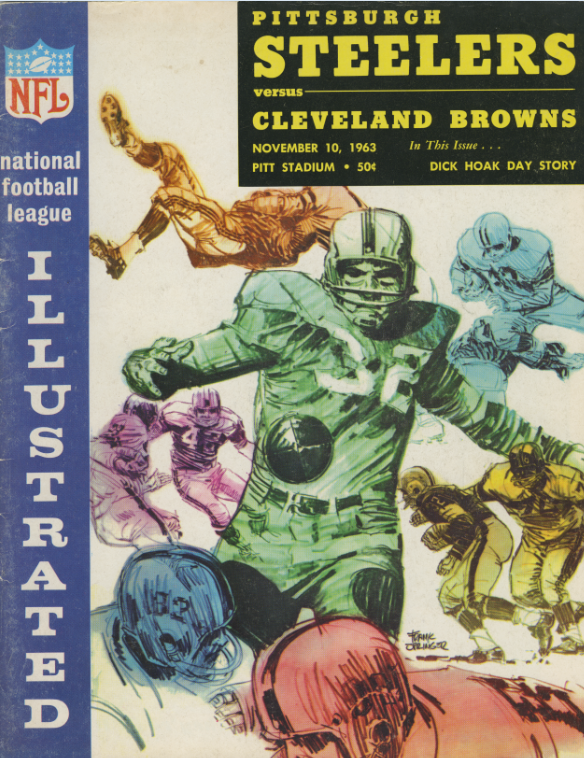 Pittsburgh Steelers official program, November 10, 1963 against the Cleveland Browns. Detre Library & Archives at the Heinz History Center.