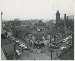 ALT:The Allegheny Market House, c. 1964. Allegheny Conference on Community Development Photographs, 1892-1981, MSP 285, Senator John Heinz History Center.