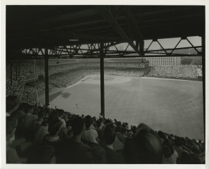 ALT:Forbes Field, c. 1968. Allegheny Conference on Community Development Photographs, 1892-1981, MSP 285, Senator John Heinz History Center.