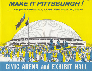 ALT:Civic Arena brochure, 1963. Allegheny Conference on Community Development Records, 1920-1993, MSS 285, Senator John Heinz History Center.