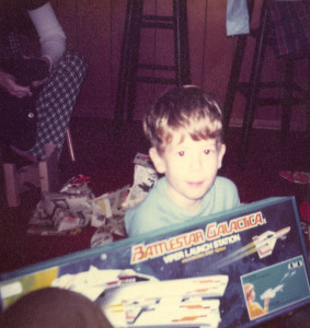 ALT:Craig Britcher with his Battlestar Galactica toy, 1970s. | I Had That! Childhood Toys Photo Gallery