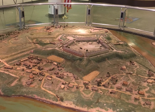 Fort Pitt diorama after cleaning