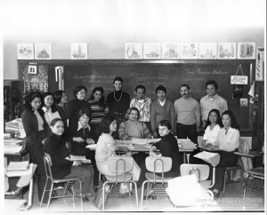 ALT:English as a Second Language course at Connelley Vocational High School, c. 1977-1978. Pittsburgh Public School Photographs, MSP 117, Detre Library & Archives, Heinz History Center