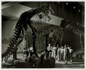 ALT:Elementary education students on field trip to Carnegie Museum of Natural History, 1951. Pittsburgh Public School Photographs, MSP 117, Detre Library & Archives, Heinz History Center