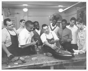 ALT:South High School Shoe Repair course, 1969. Pittsburgh Public School Photographs, MSP 117, Detre Library & Archives, Heinz History Center