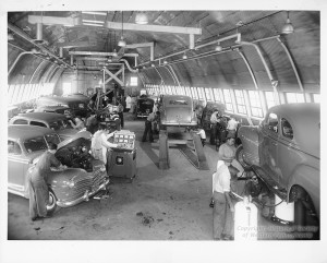 ALT:Veterans Education Auto Shop at Shakespeare School, c. 1950-1953. Pittsburgh Public School Photographs, MSP 117, Detre Library & Archives, Heinz History Center