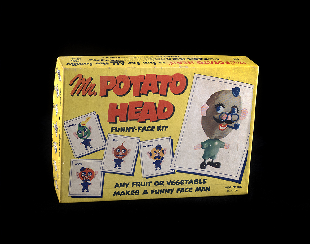 Mr. Potato Head Funny-Face Kit, 1952. On loan from the Smithsonian Museum of American History.