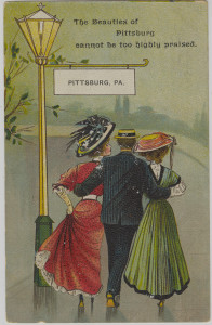 ALT:Early 20th century souvenir postcard. General Postcard Collection, GPCC, Detre Library & Archives, Senator John Heinz History Center.