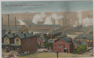 ALT:View of Carnegie Steel Works, Homestead, Pa. General Postcard Collection, GPCC, Detre Library & Archives, Senator John Heinz History Center.