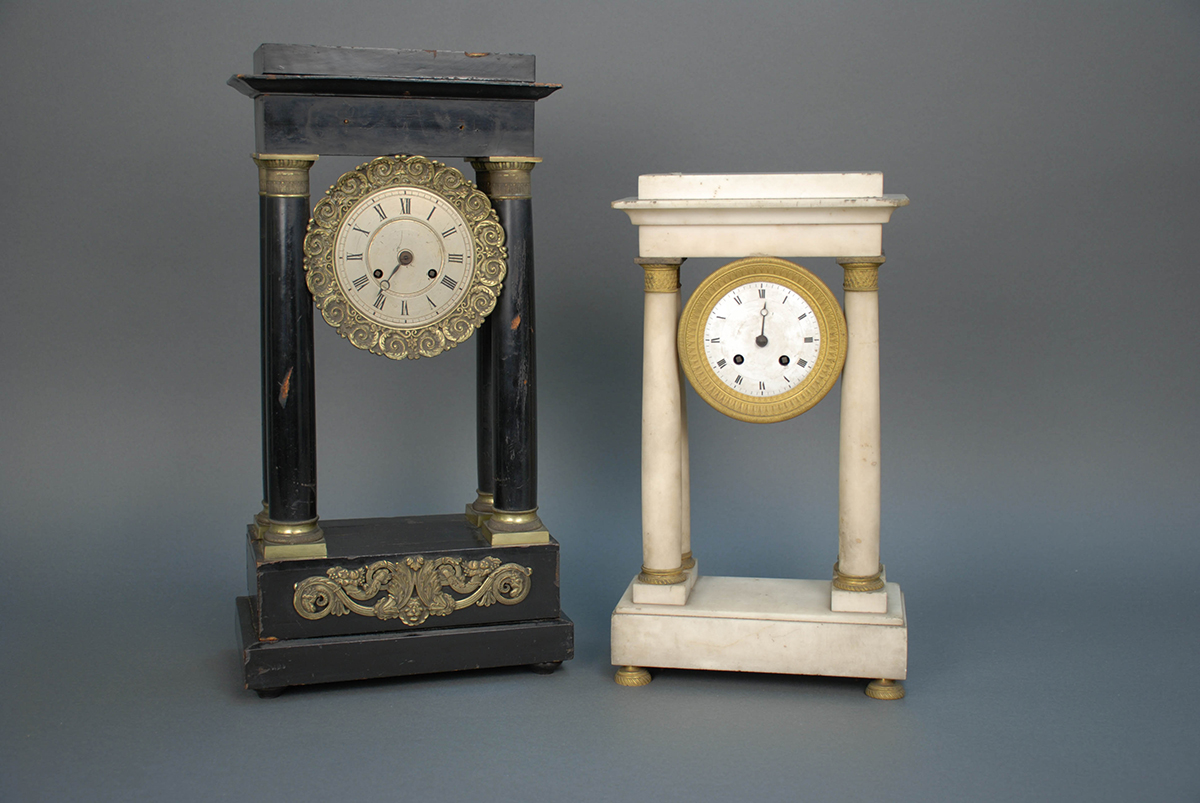 Mantle clocks, Great Fire in Pittsburgh, 1845
