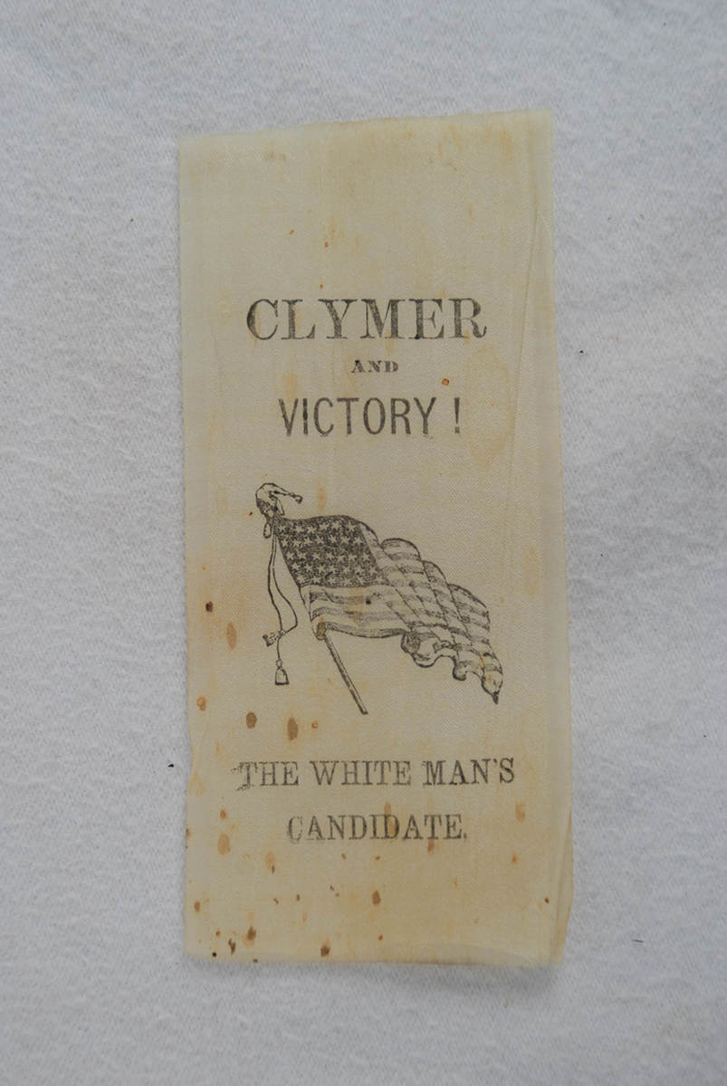 Hiester Clymer campaign ribbon | 2015.22.42 | Heinz History Center Collections
