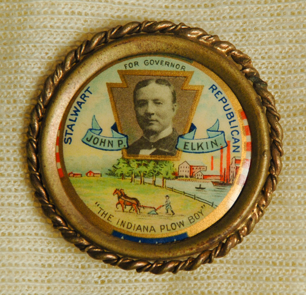 Button for John P. Elkin's race for governor in 1902. | 2015.22.463 | Heinz History Center Collections