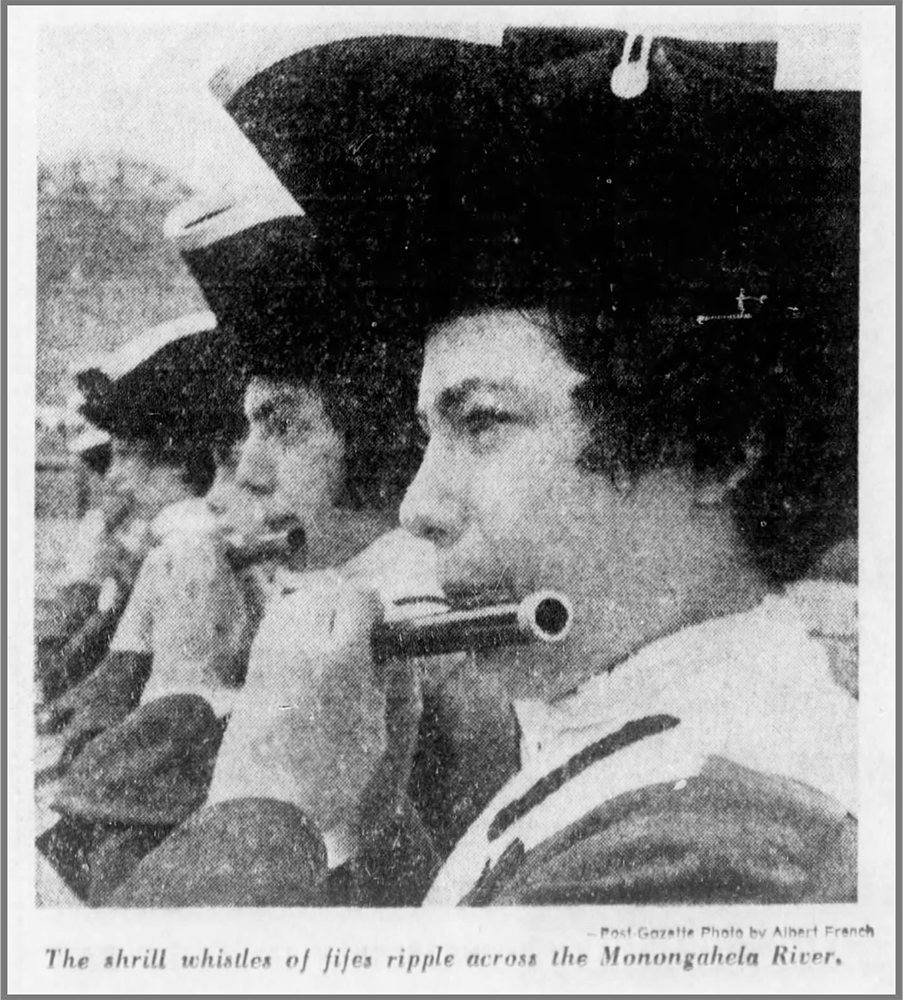 Fife and drum at the Fort Pitt Museum, July 3, 1972. | Pittsburgh Post-Gazette.