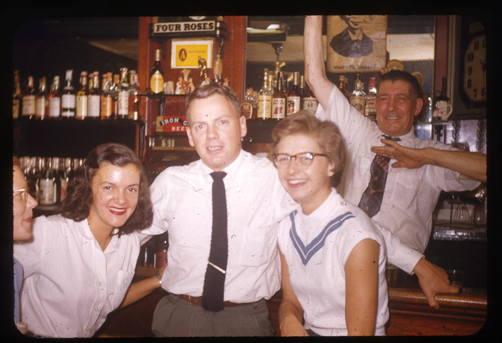 Friends gather in Joe G's bar in East Liberty, 1953. Helen Wilson Photo Collection, 1999.0142, Detre Library & Archives, Heinz History Center.