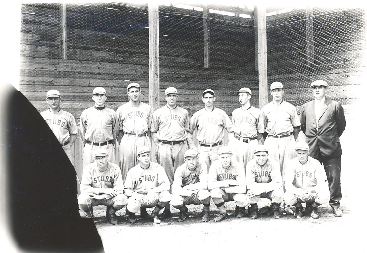 Frank France's photograph of the 1912 Steubenville Stubs.