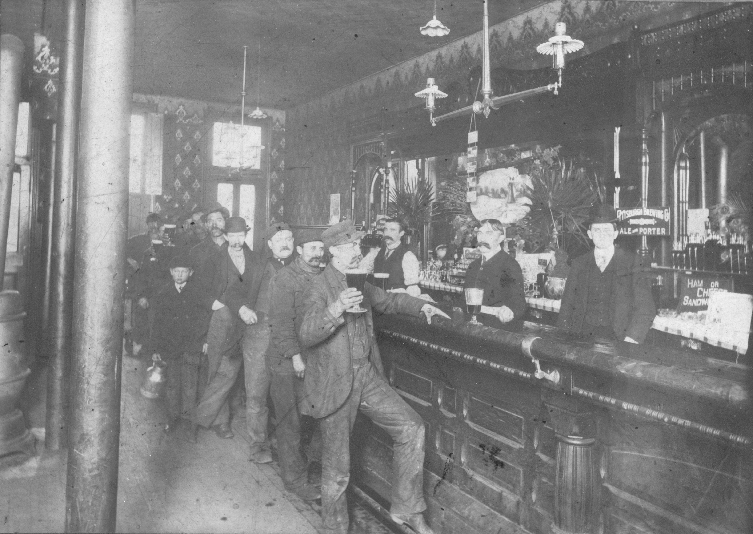 Waiting in line for a beer at a Pittsburgh saloon, c. 1910. General Photo Collection, Detre Library & Archives, Heinz History Center.