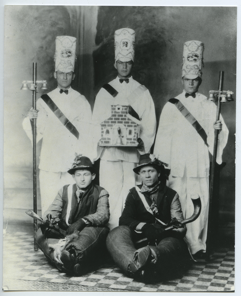 A group of Slovak men from Sharon, PA, c. 1930, are dressed to carry on the tradition of the Jaslickari. | Heinz History Center
