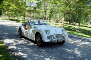 ALT:Arnie Fero (driver) and Christine Clifton (navigator) driving inn the Pittsburgh countryside during the Pittsburgh Vintage Grand Prix Countryside Tour, July 16, 2015. | Your #Pixburgh Photo Album | #Pixburgh: A Photographic Experience