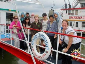 ALT:Chatham University students on the Gateway Clipper, June 24, 2011.| Your #Pixburgh Photo Album | #Pixburgh: A Photographic Experience