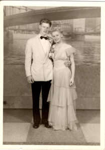 ALT:Clifford Ruffing and his unknown named prom date, 1948, Mon Wharf. | Your #Pixburgh Photo Album | #Pixburgh: A Photographic Experience